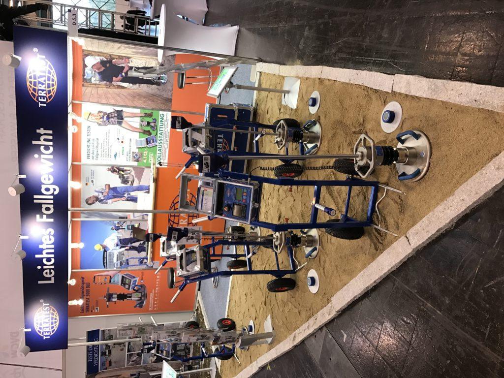 TERRATEST Light weight deflectometer on tradefair GAT Essen