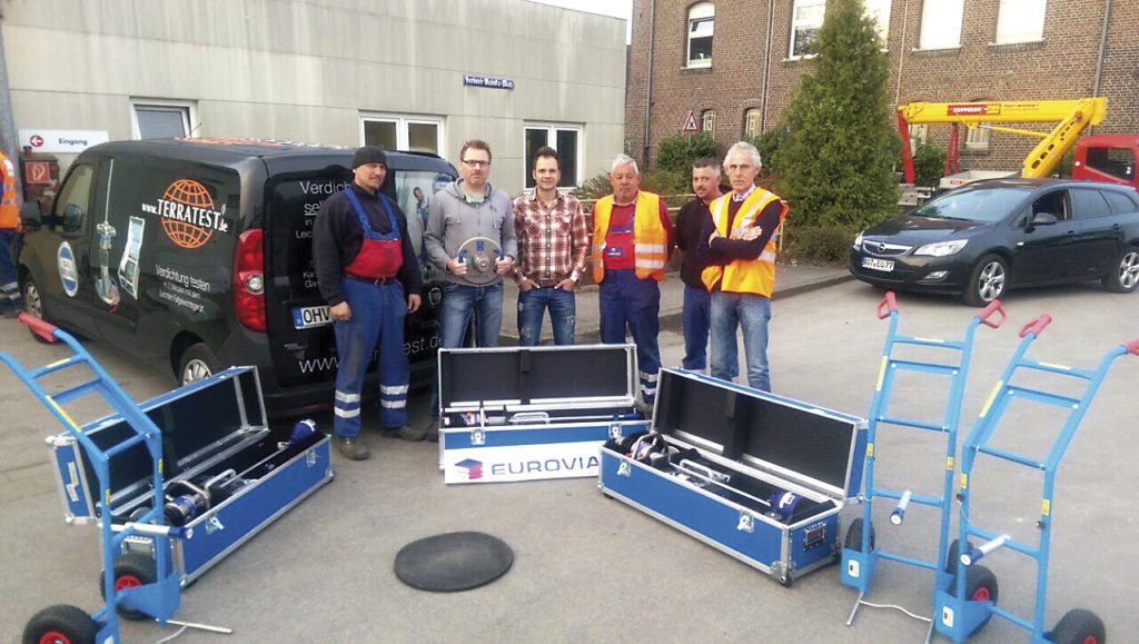 Eurovia Team light weight deflectometer delivery