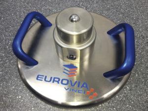 Eurovia branded Lastplatte - Light Weight Deflectometer