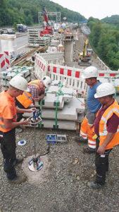 Lightweight Deflectometer in Use on Volmarstein Bridge