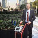 Mr. Schulz with Light weight deflectometer on Bauma Shanghai