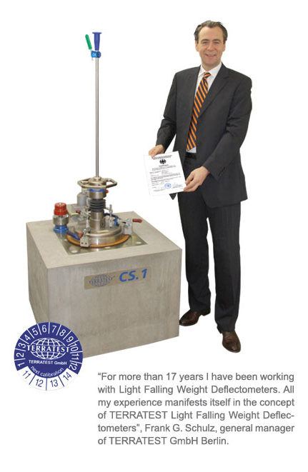 ASTM E2835 11 LWD calibration certificate TERRATEST